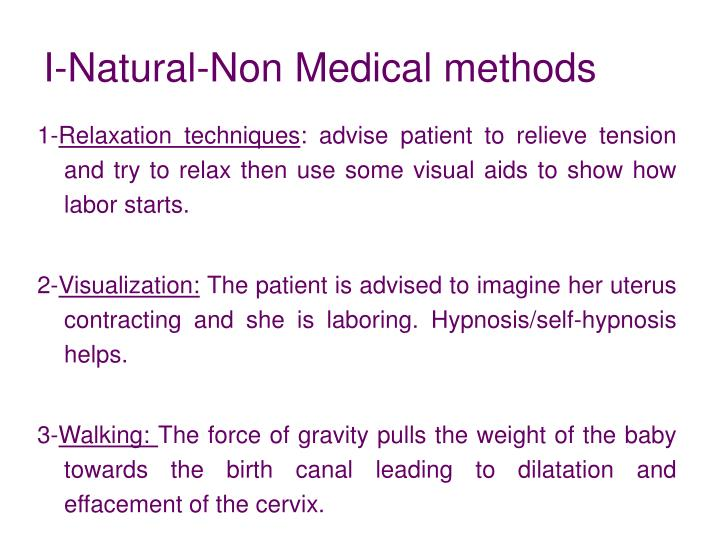 I-Natural-Non Medical methods