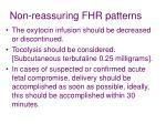non reassuring fhr patterns