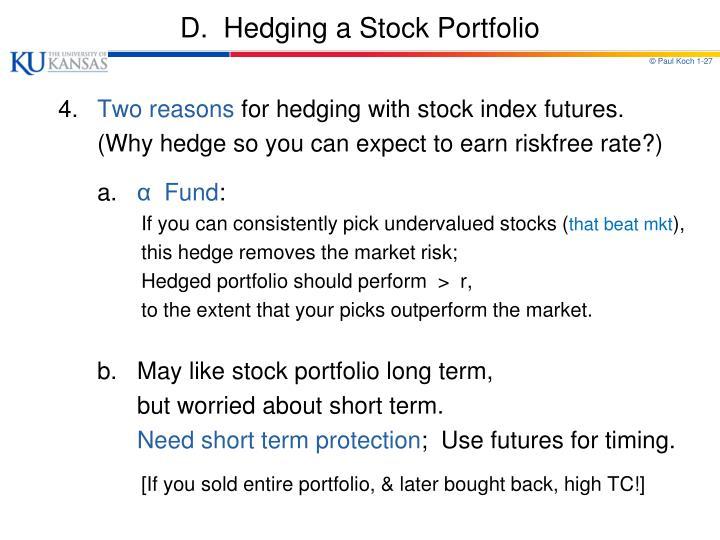 Stock trading hedging strategies