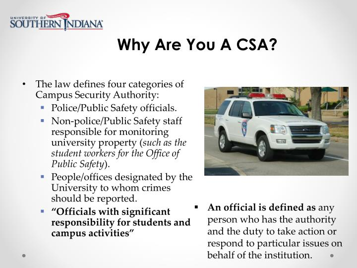 Why Are You A CSA?