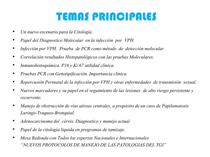 TEMAS PRINCIPALES