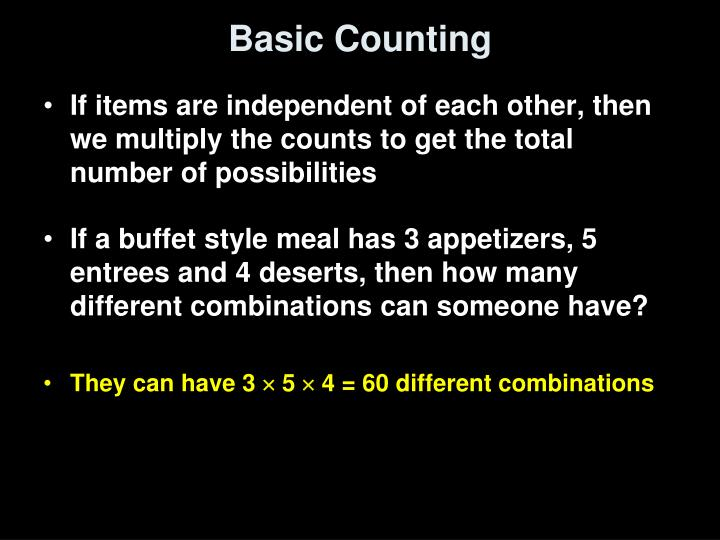 Basic Counting