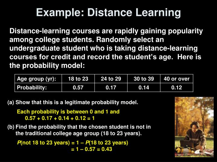 Example: Distance Learning