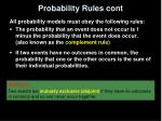 probability rules cont
