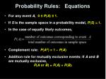 probability rules equations