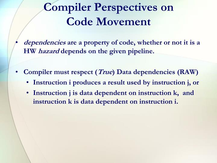 Compiler Perspectives on