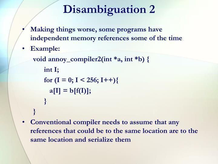 Disambiguation 2