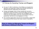 15 policies for assisting tramps and beggars
