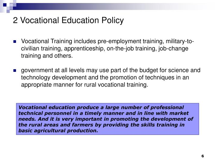 2 Vocational Education Policy