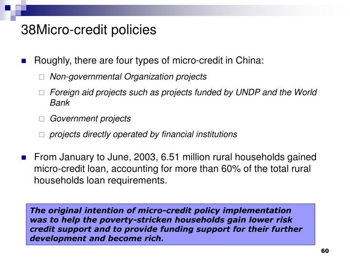 38Micro-credit policies