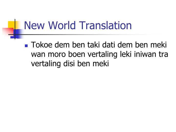 New World Translation