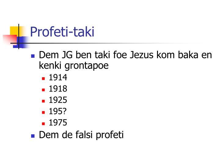 Profeti-taki