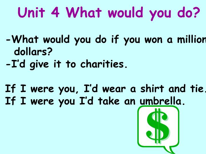Unit 4 What would you do?
