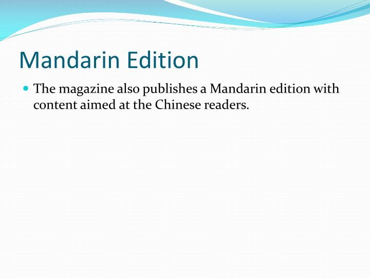Mandarin Edition