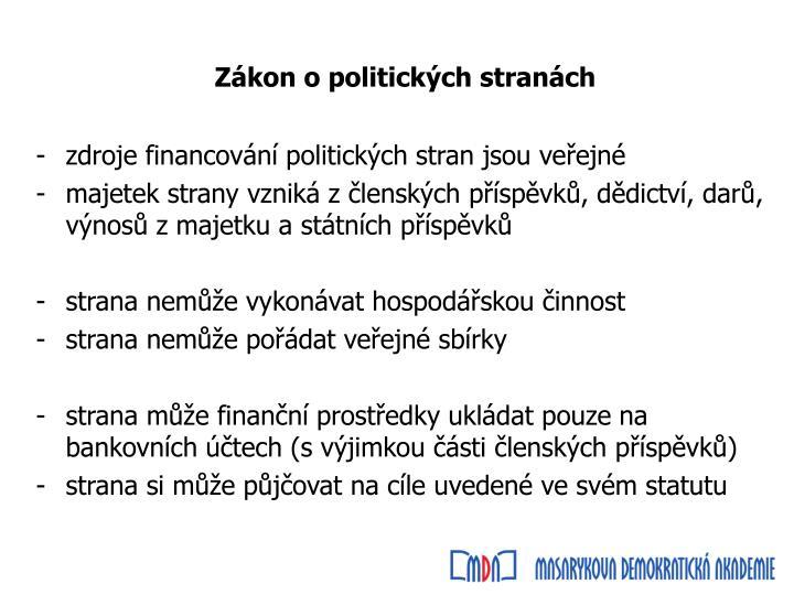 Zákon o politických stranách