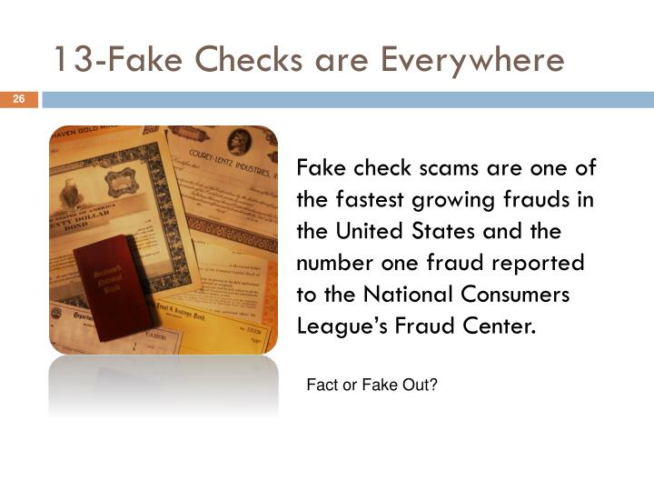 13-Fake Checks are Everywhere