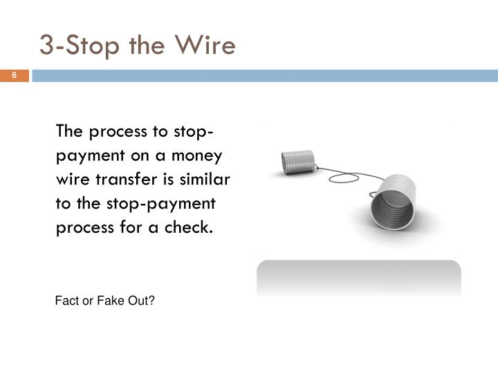 3-Stop the Wire