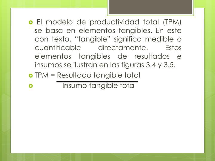 El modelo de productividad total (TPM) se basa en elementos tangibles. En este con