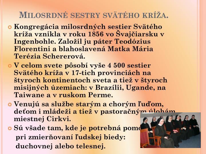 Milosrdn sestry svtho kra.