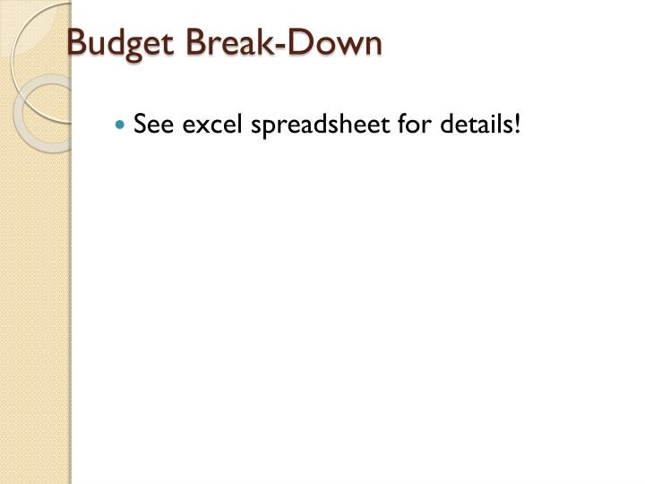 Budget Break-Down