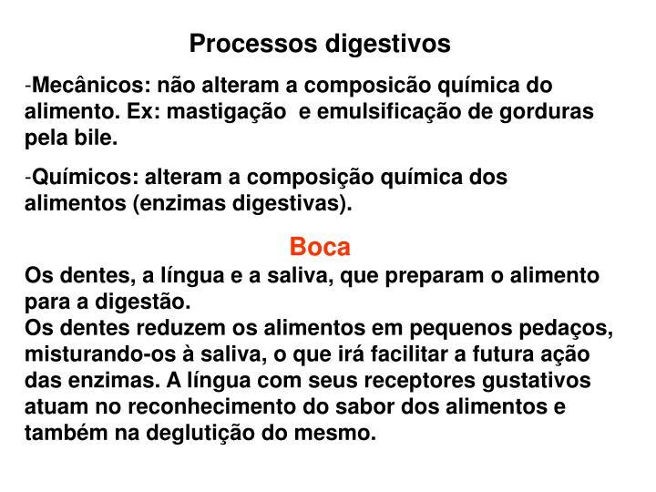 Processos digestivos