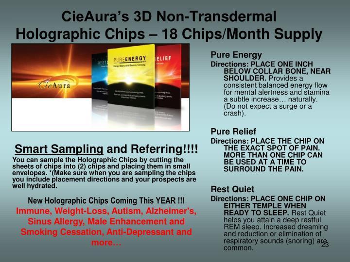 CieAura's 3D Non-Transdermal