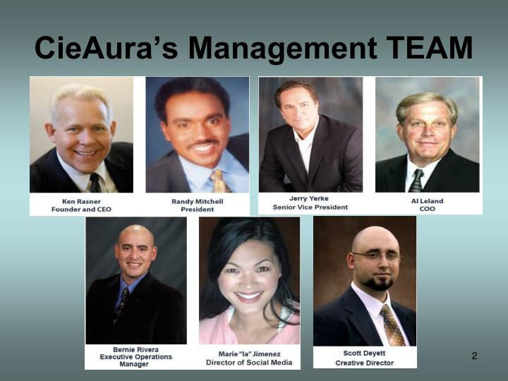 CieAura's Management TEAM