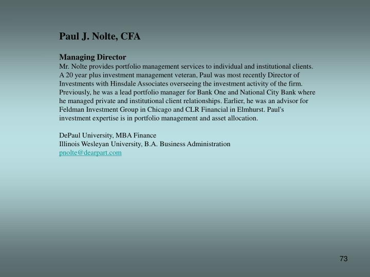 Paul J. Nolte, CFA