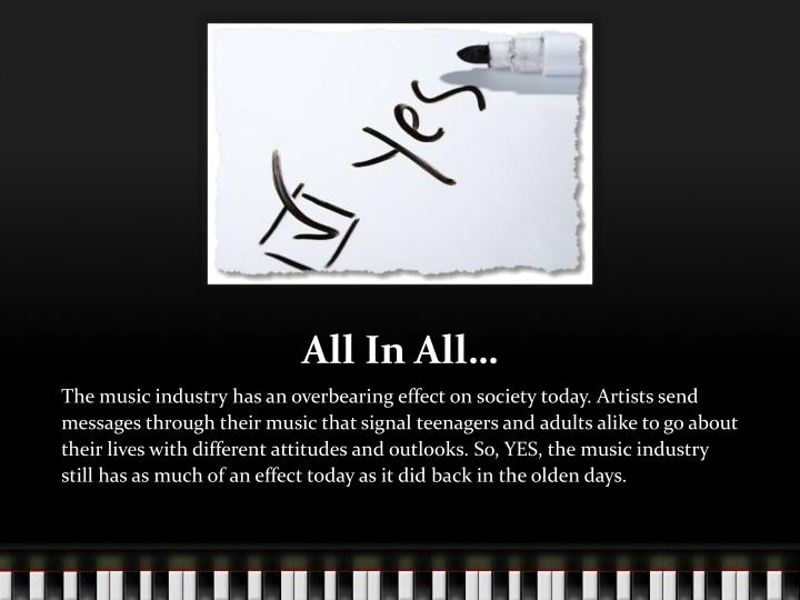 All In All…