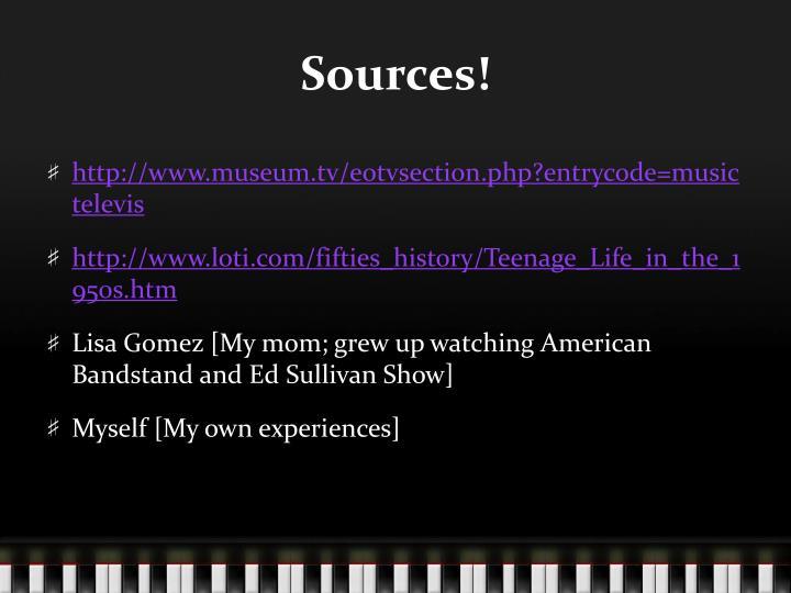 Sources!