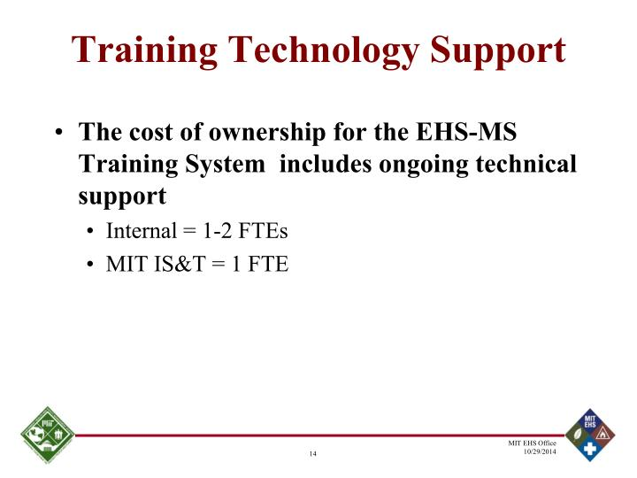 Training Technology Support