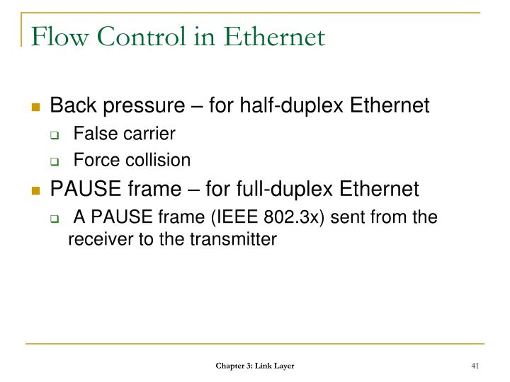 Flow Control in Ethernet