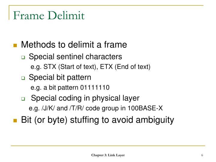 Frame Delimit
