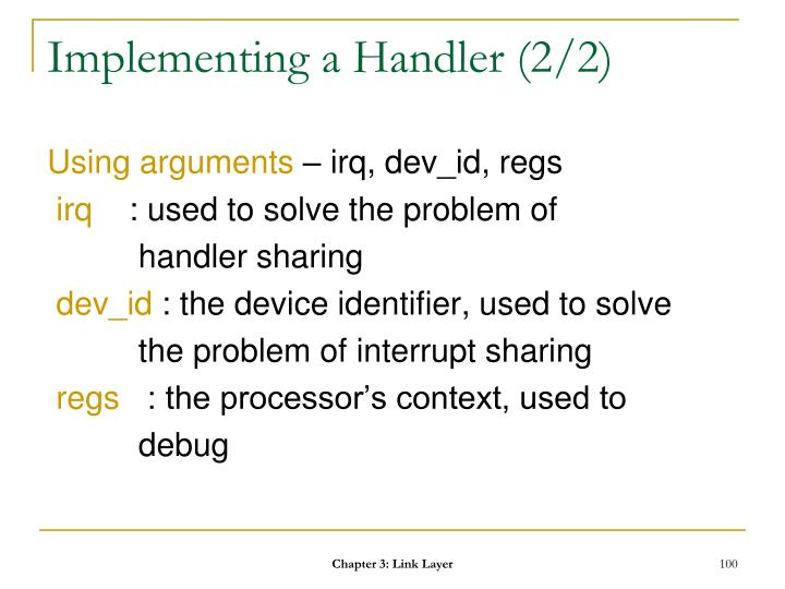 Implementing a Handler (2/2)
