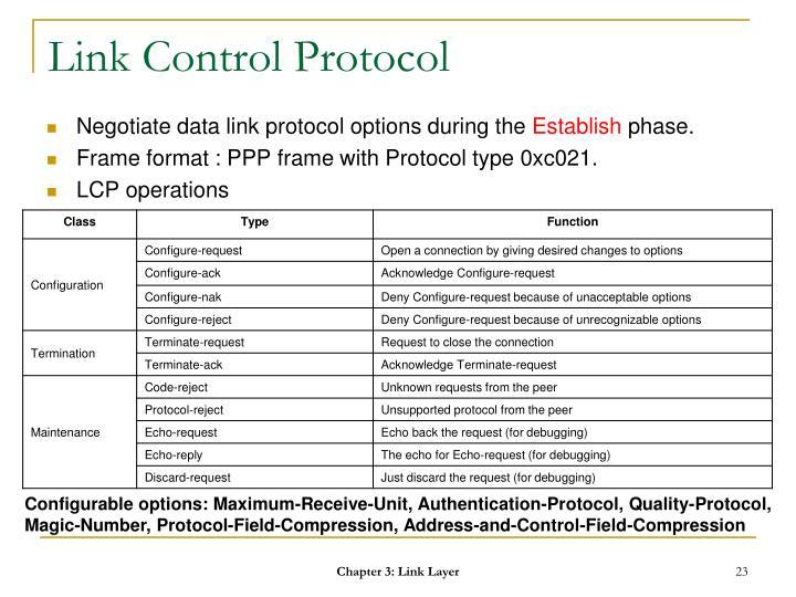 Link Control Protocol