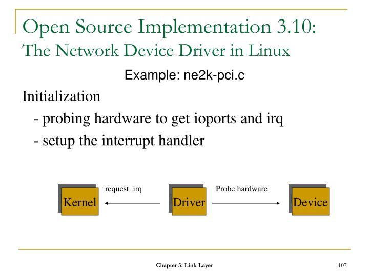 Open Source Implementation 3.10: