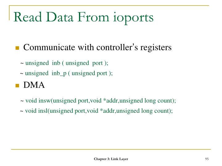 Read Data From ioports