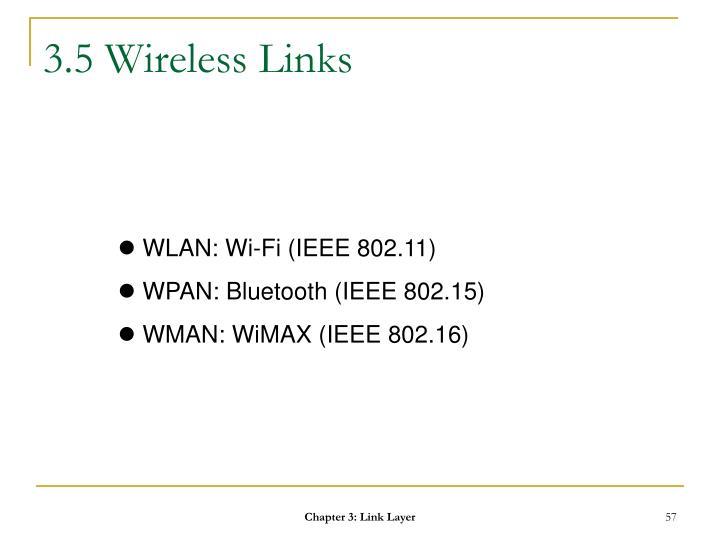 3.5 Wireless Links