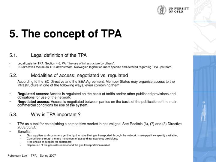 5. The concept of TPA
