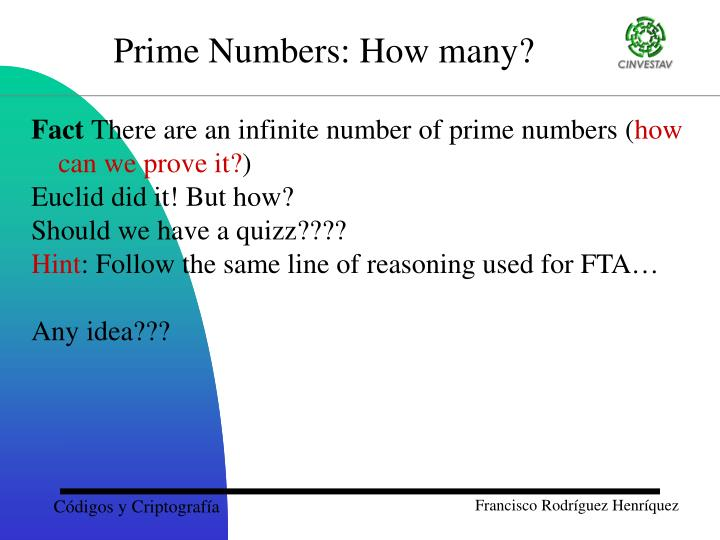 Prime Numbers: How many?