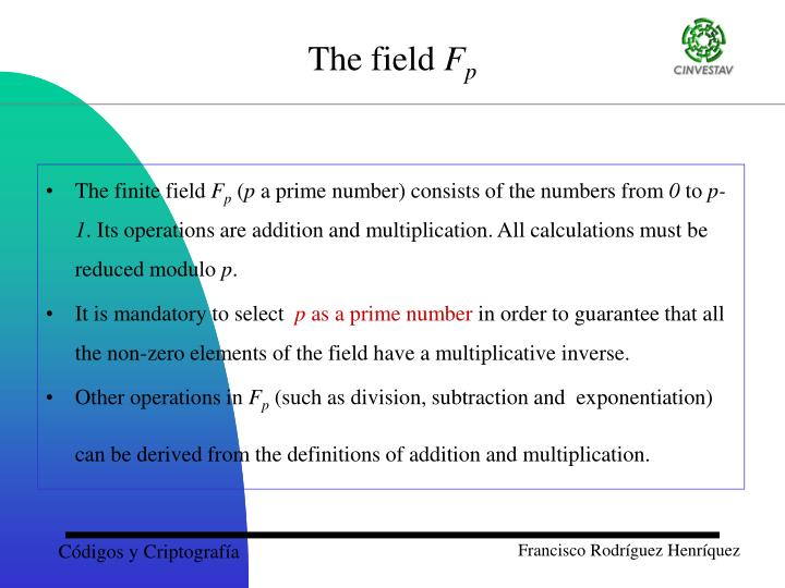 The finite field