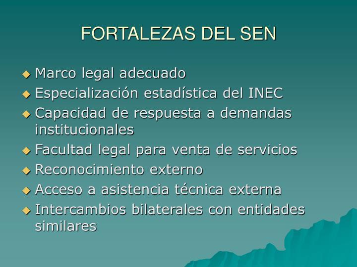 FORTALEZAS DEL SEN