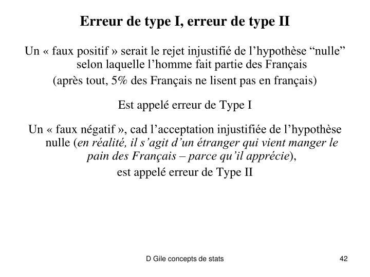 Erreur de type I, erreur de type II
