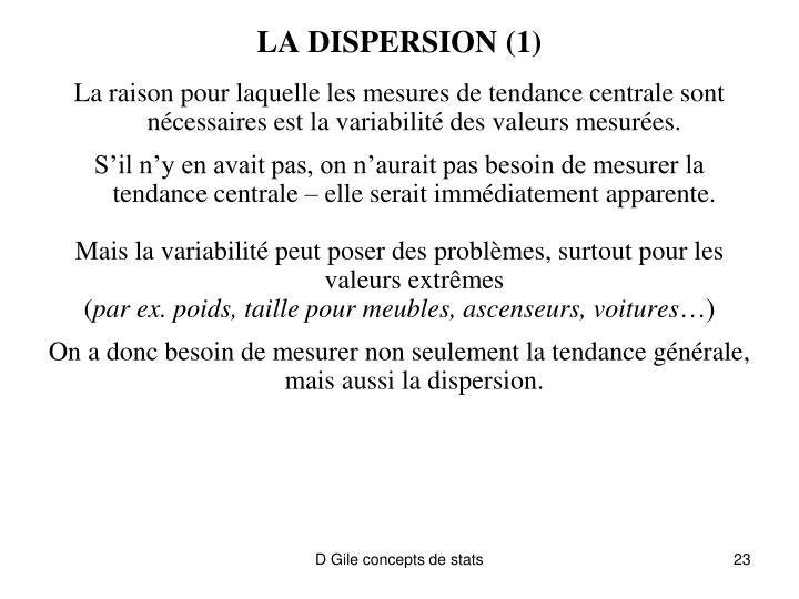 LA DISPERSION (1)