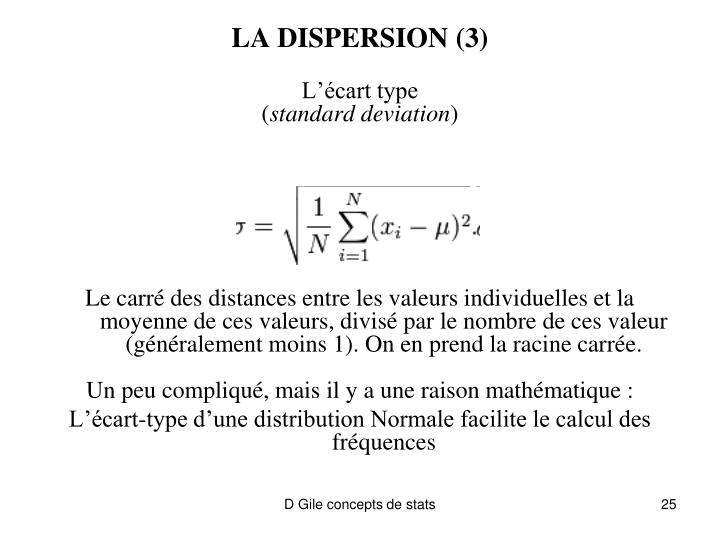 LA DISPERSION (3)