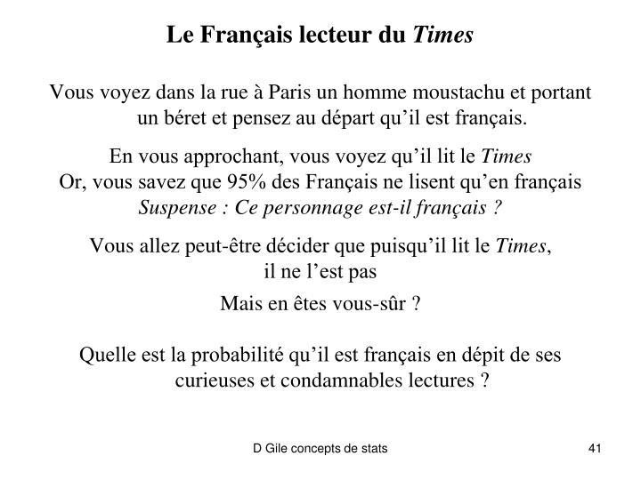 Le Français lecteur du