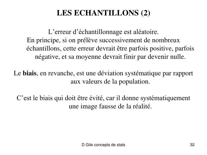 LES ECHANTILLONS (2)