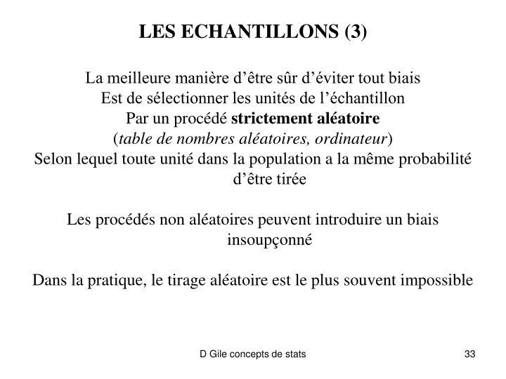 LES ECHANTILLONS (3)