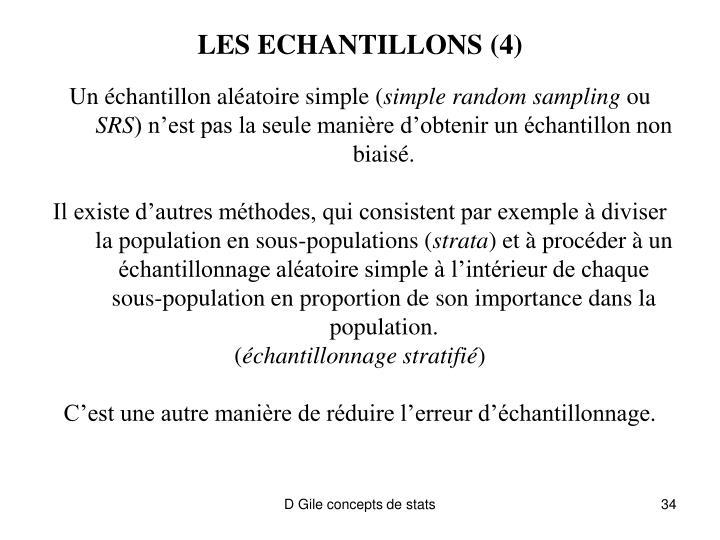 LES ECHANTILLONS (4)