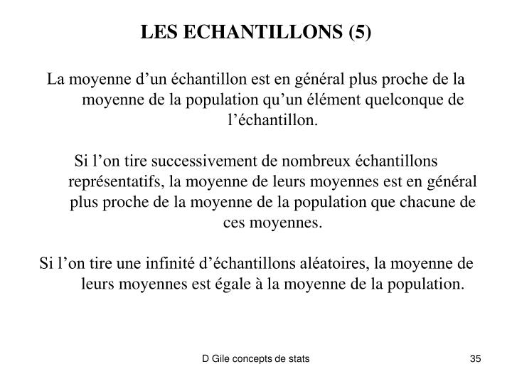 LES ECHANTILLONS (5)